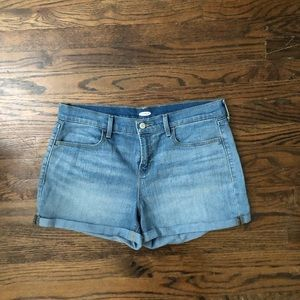 Light Wash Denim Jean Shorts